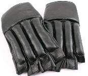 XL Black Cut finger Punching Bag Mitts