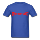 Do You Want Some fight Gear Logo Red on Blue T-shirt
